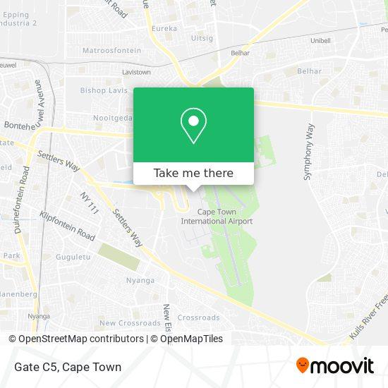 Gate C5 map