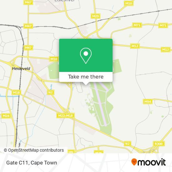 Gate C11 map