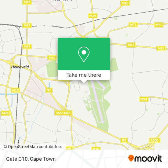 Gate C10 map