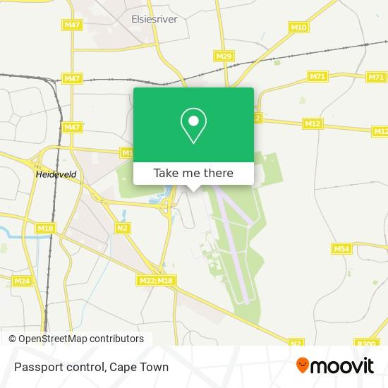 Passport control map