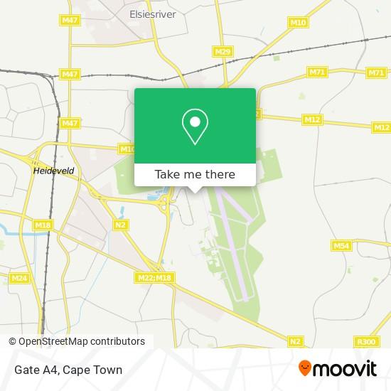 Gate A4 map