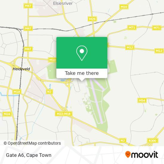 Gate A6 map