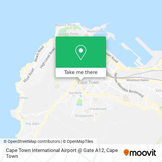 Cape Town International Airport @ Gate A12 map