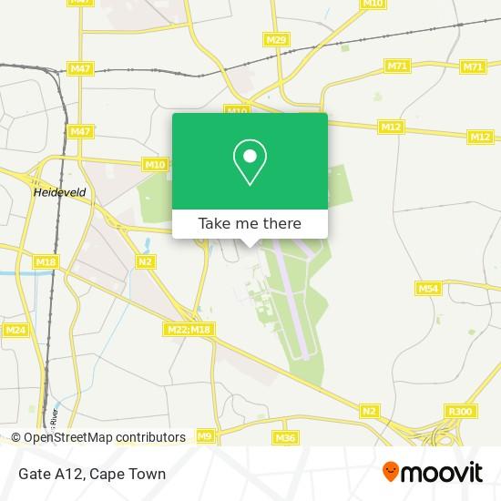Gate A12 map