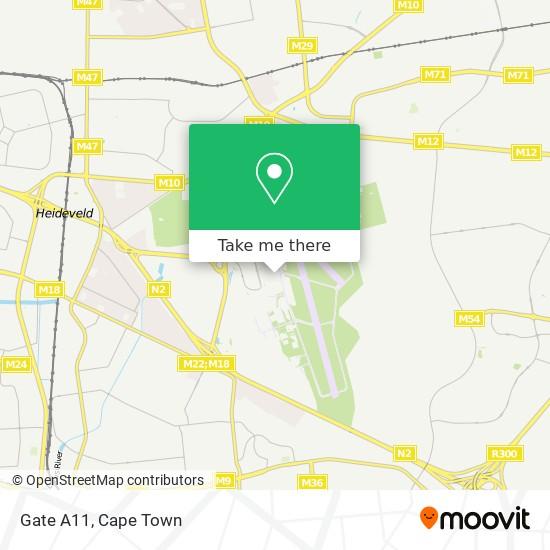 Gate A11 map