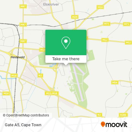 Gate A5 map
