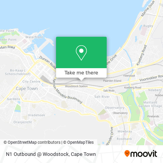 N1 Outbound @ Woodstock map