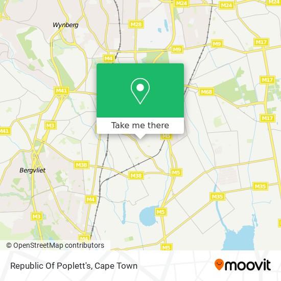 Republic Of Poplett's map