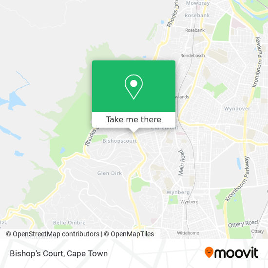 Bishop's Court map