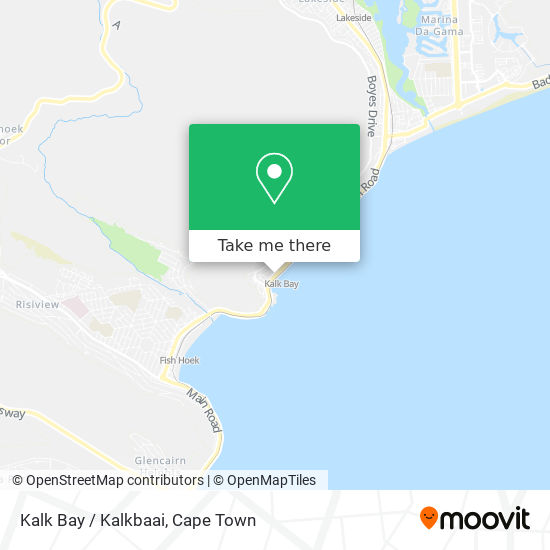 Kalk Bay / Kalkbaai map