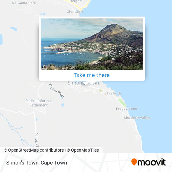 Simon's Town map
