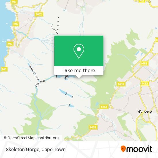 Skeleton Gorge map