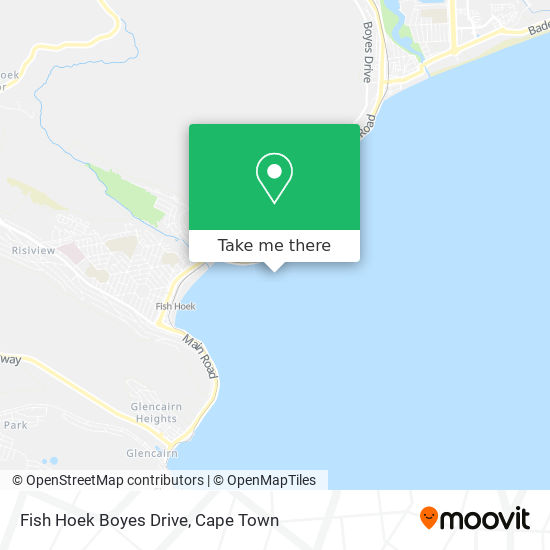Fish Hoek Boyes Drive map