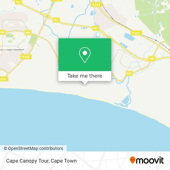 Cape Canopy Tour map
