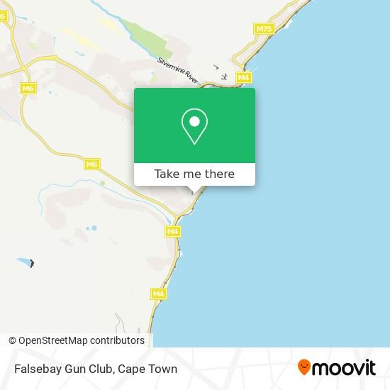Falsebay Gun Club map