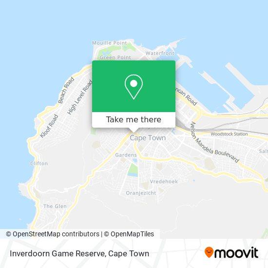 Inverdoorn Game Reserve map