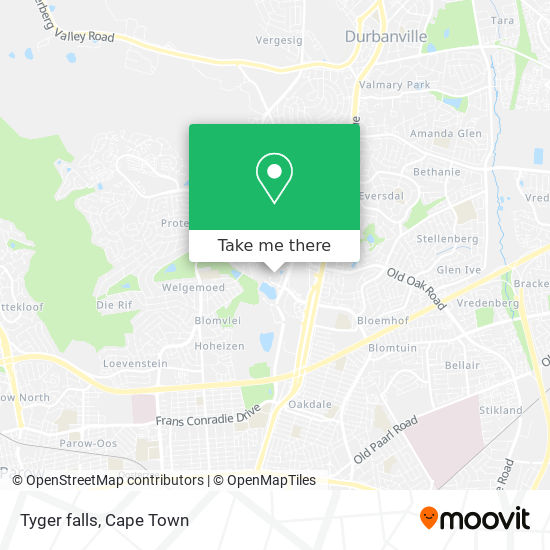Tyger falls map
