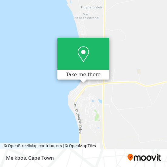 Melkbos map