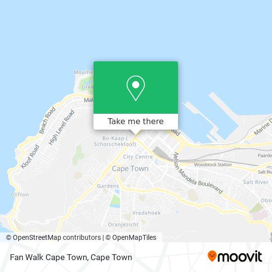 Fan Walk Cape Town map