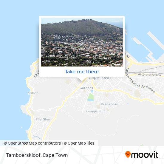 Tamboerskloof map