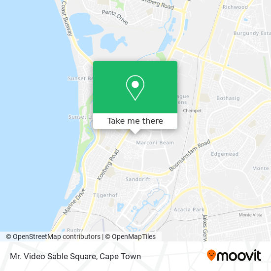 Mr. Video Sable Square map