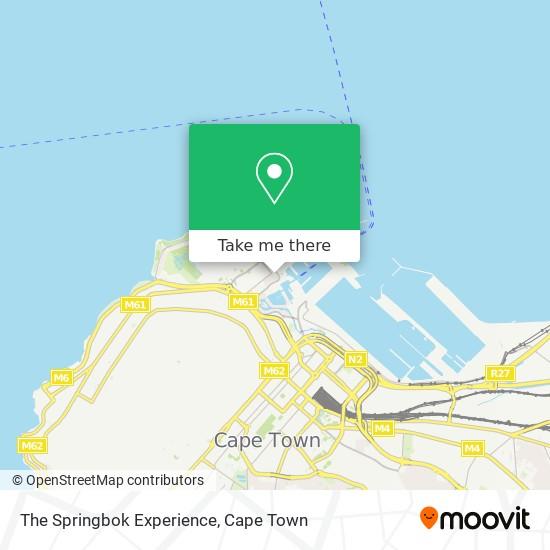 The Springbok Experience map