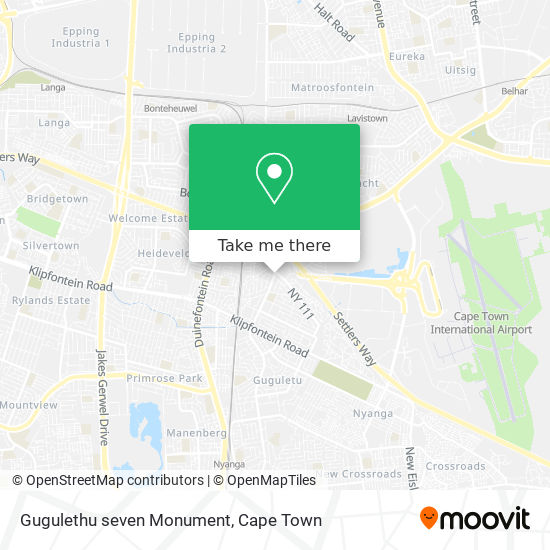 Gugulethu seven Monument map