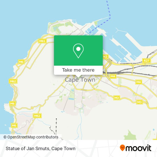 Statue of Jan Smuts map