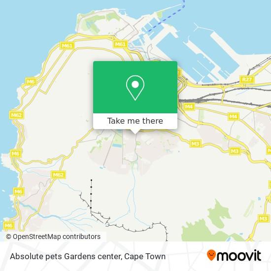Absolute pets Gardens center map