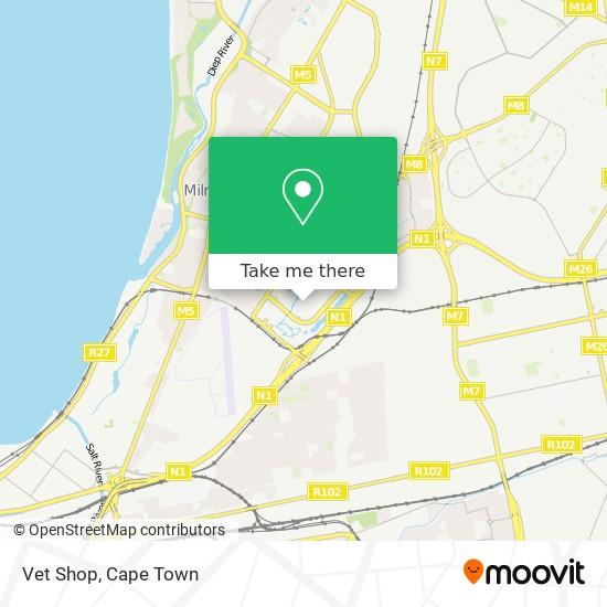 Vet Shop map