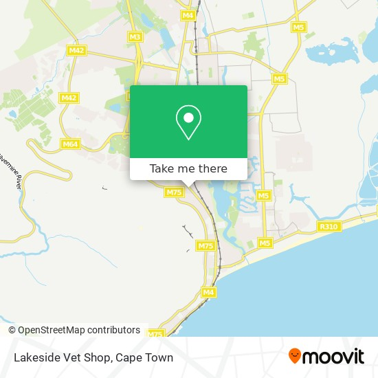 Lakeside Vet Shop map