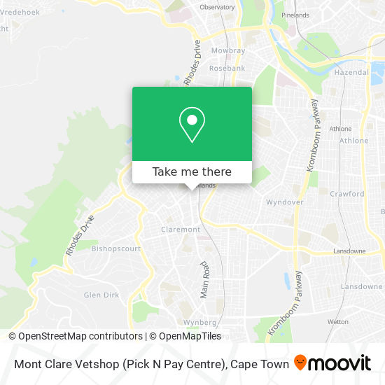 Mont Clare Vetshop (Pick N Pay Centre) map