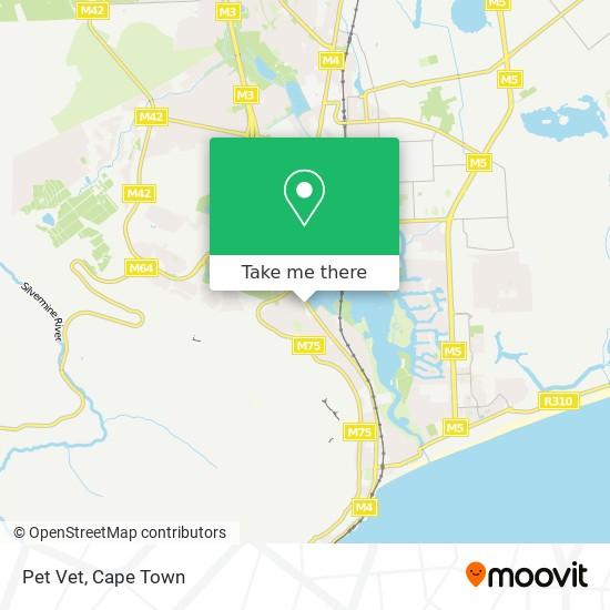 Pet Vet map