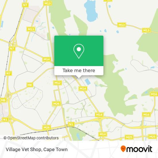 Village Vet Shop map