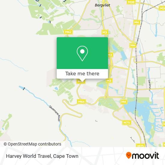 Harvey World Travel map