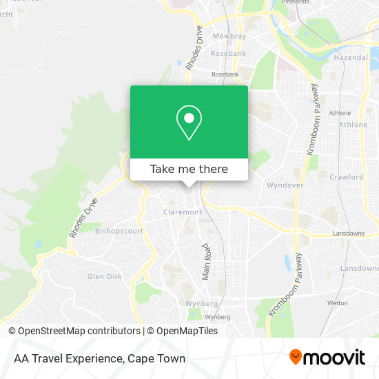 AA Travel Experience map