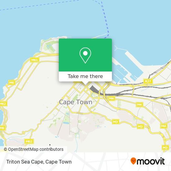 Triton Sea Cape map