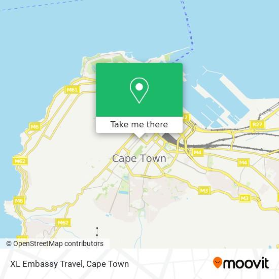 XL Embassy Travel map
