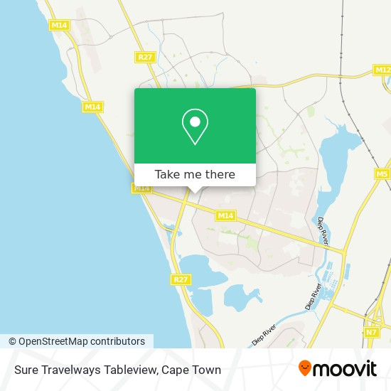 Sure Travelways Tableview map