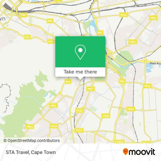 STA Travel map