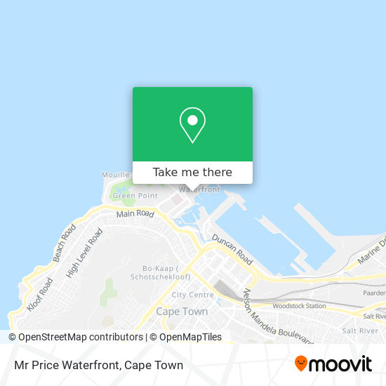 Mr Price Waterfront map