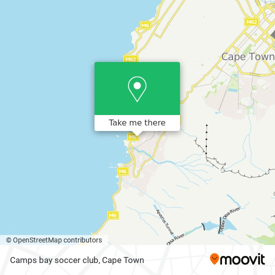 Camps bay soccer club map
