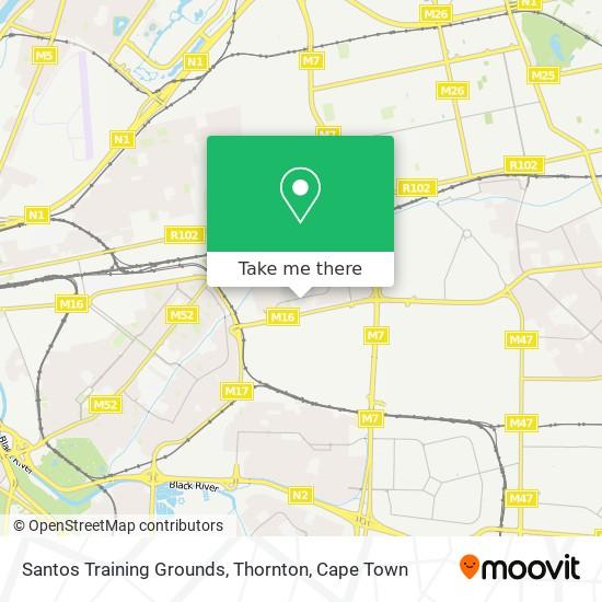 Santos Training Grounds, Thornton map