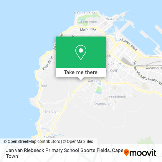 Jan van Riebeeck Primary School Sports Fields map