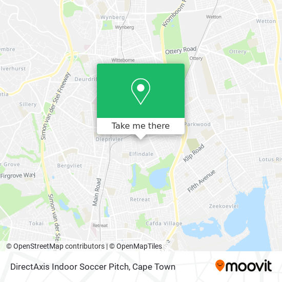 DirectAxis Indoor Soccer Pitch map