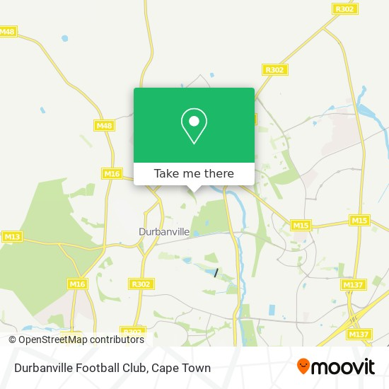 Durbanville Football Club map