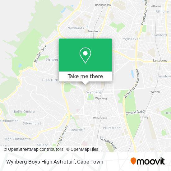 Wynberg Boys High Astroturf map