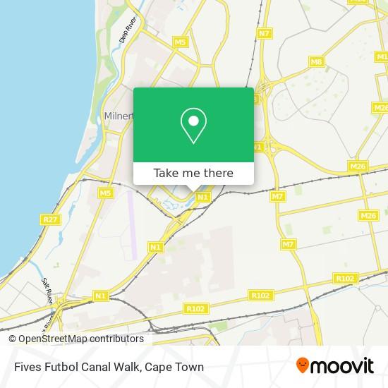 Fives Futbol Canal Walk map