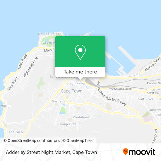 Adderley Street Night Market map