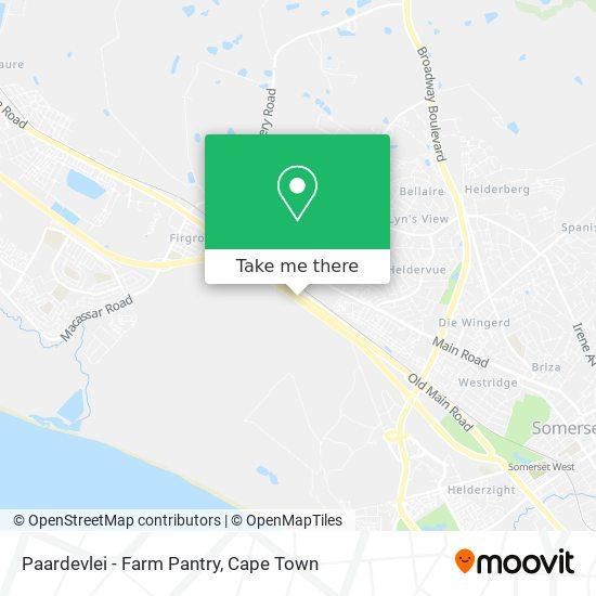 Paardevlei - Farm Pantry map